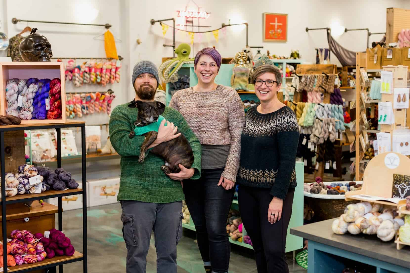 The owners of a local yarn shop.