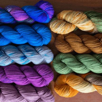 Bright yarn.