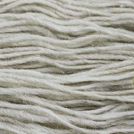 Cream-colored yarn.