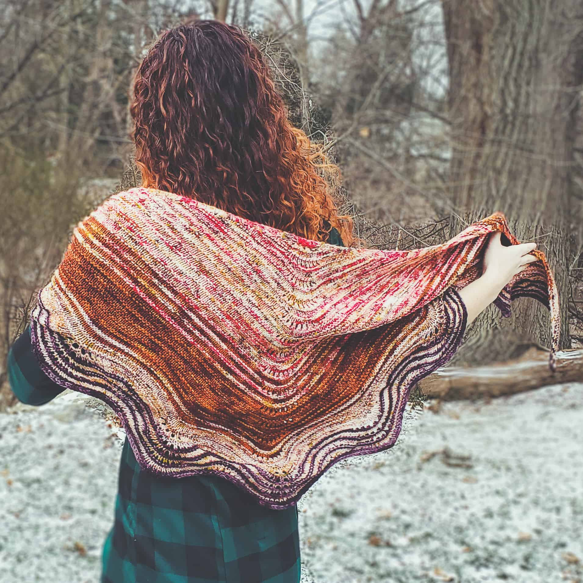 A pink and red shawl.