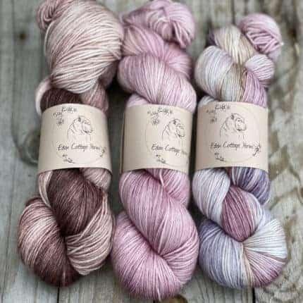 Purple and pink yarn.