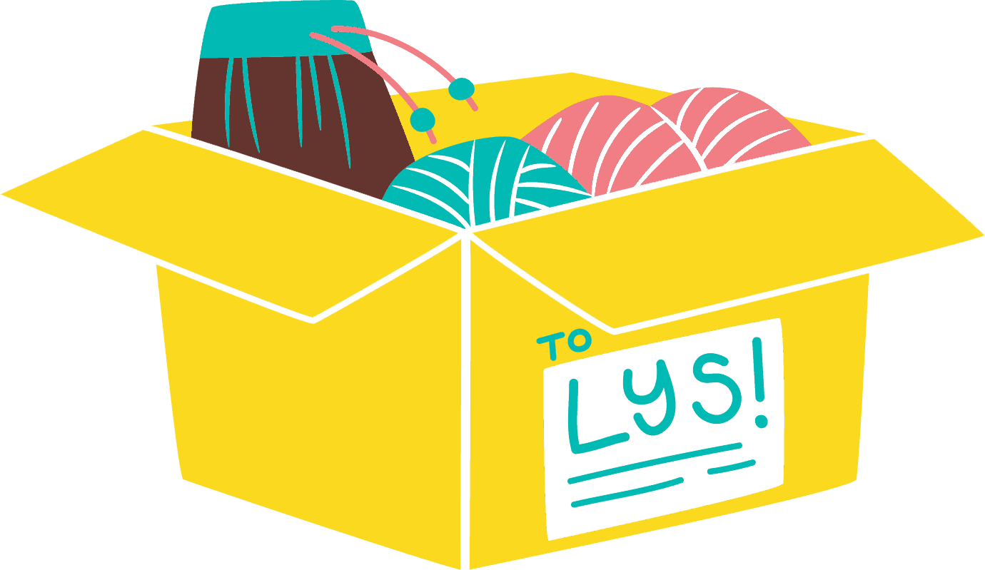 A yellow box that reads To LYS