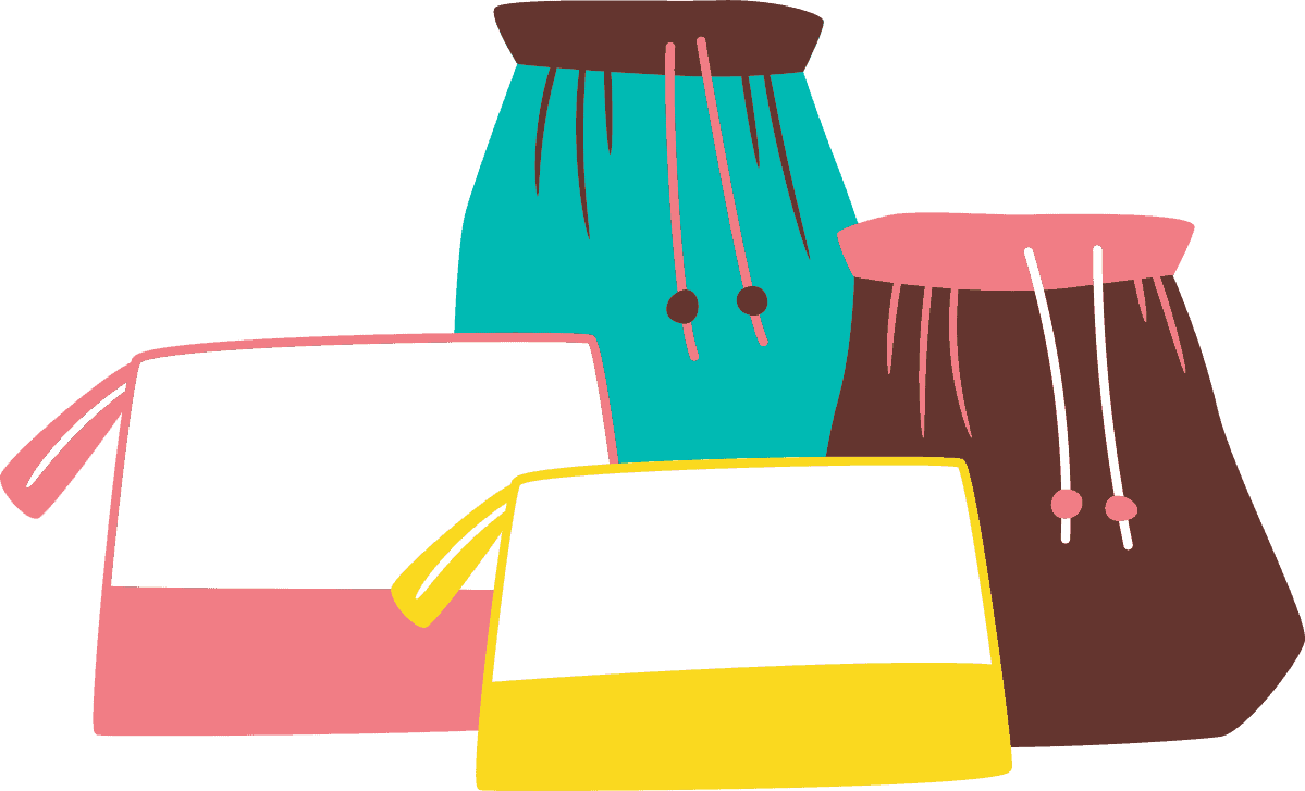 Illustrations of bags.