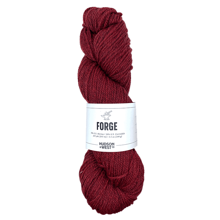 A skein of red yarn.
