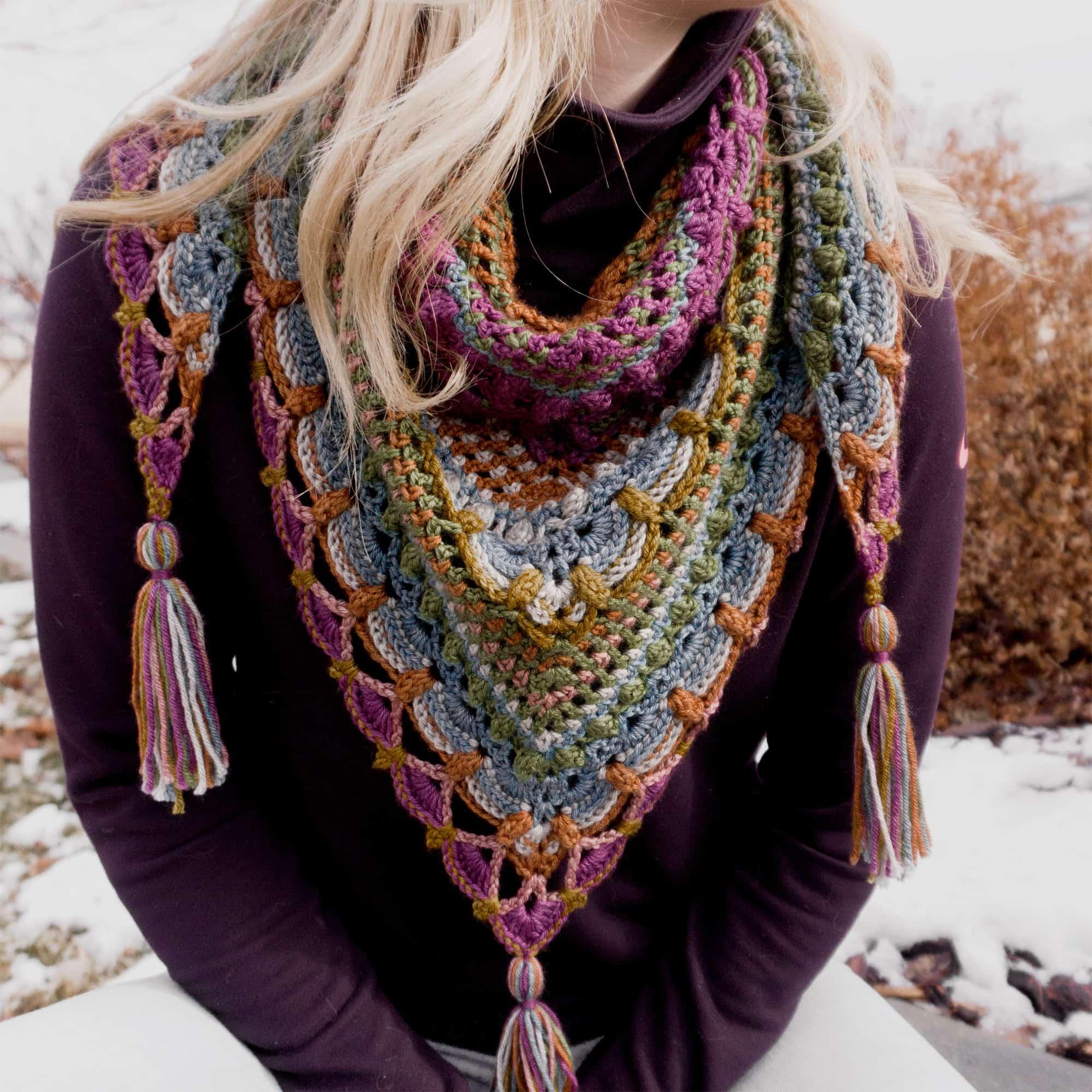 A multicolored shawl.