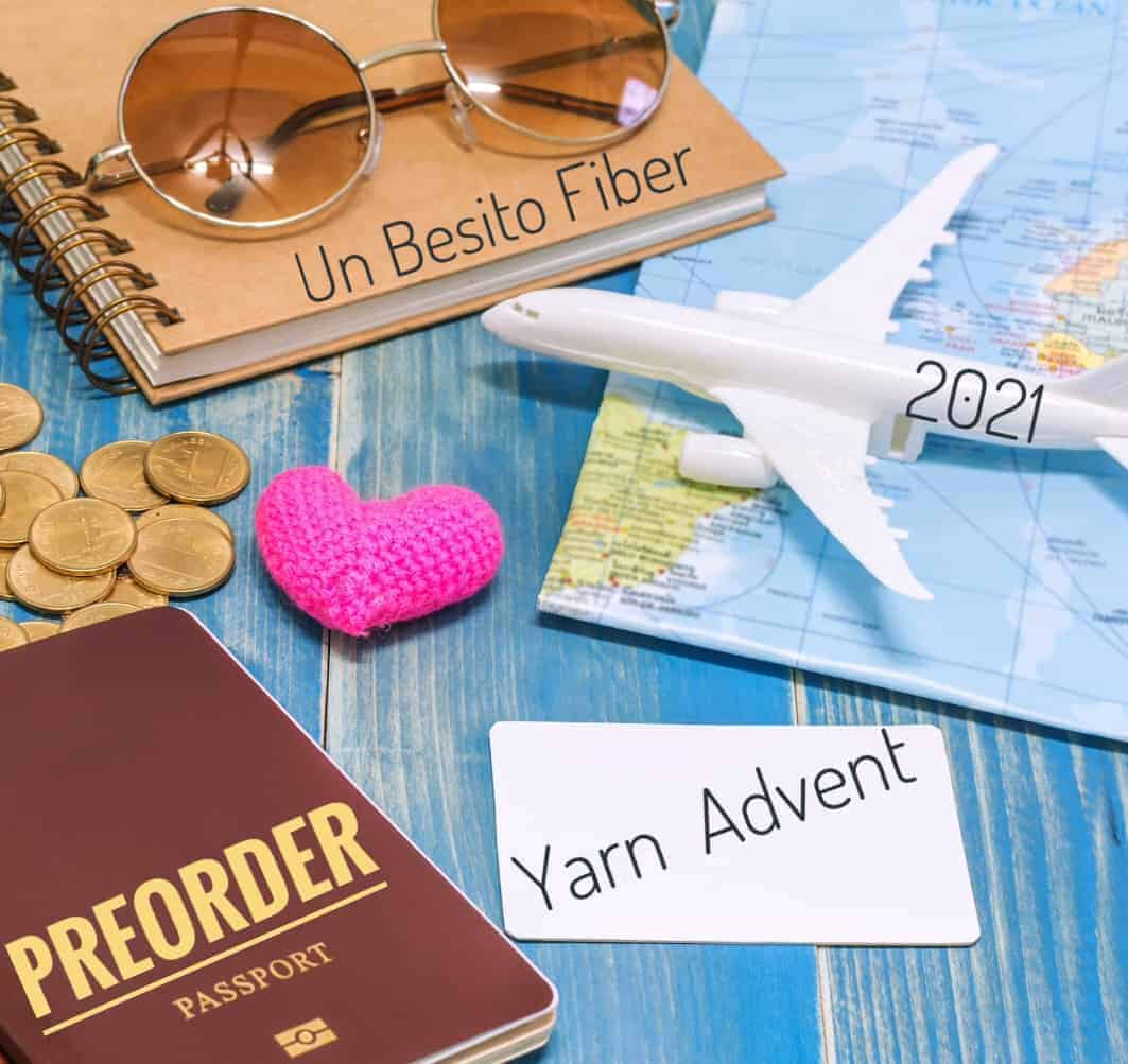 A model plane, a map, passport and sunglasses.
