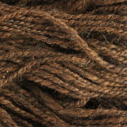 A close-up of red-orange yarn.